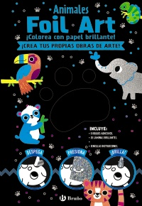 Foil Art. Colorea con papel brillante. Animales