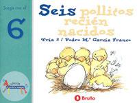 Seis pollitos reci�n nacidos
