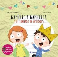 Dise�a tu libro con recortables. Gabriel y Gabriela y el concurso de disfraces